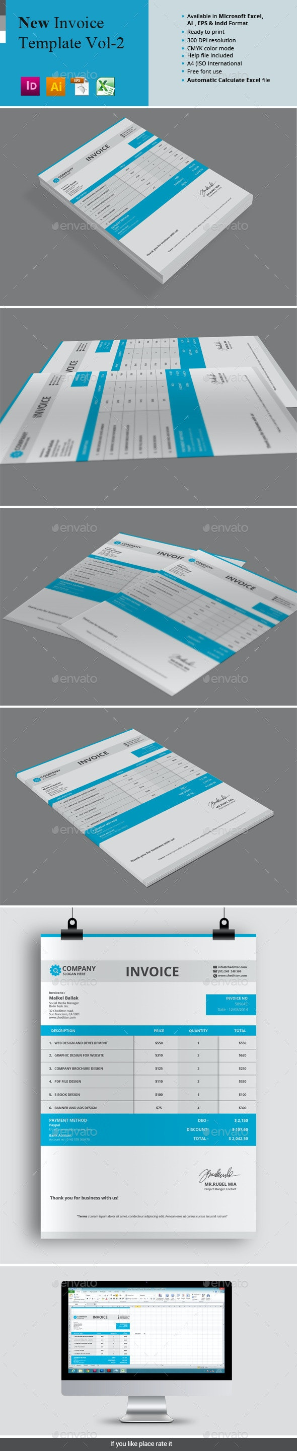 New Invoice Template Vol-2 - Proposals & Invoices Stationery