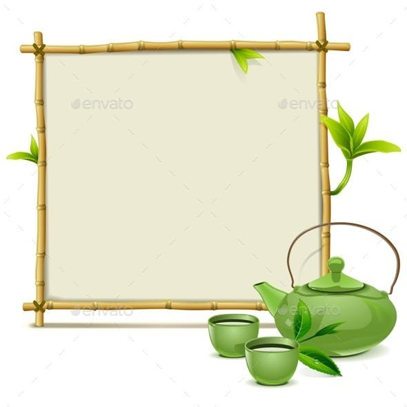 Bamboo Frame with Green Tea