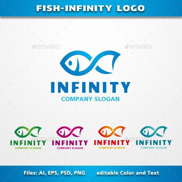 Fish Infinity Logo - Animals Logo Templates