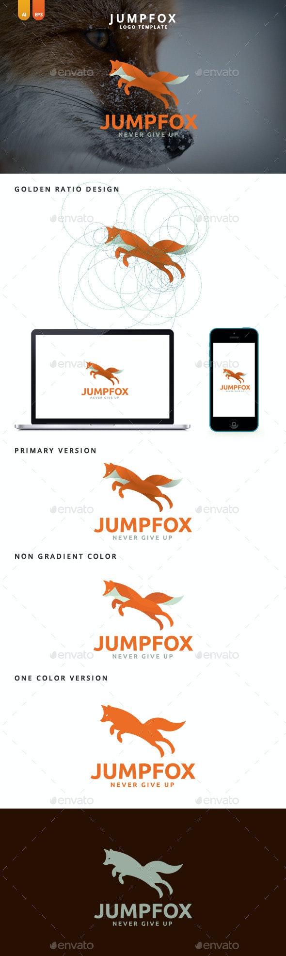 Jump Fox - Professional Fox Logo