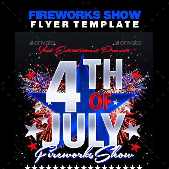 Fireworks Show Flyer Template
