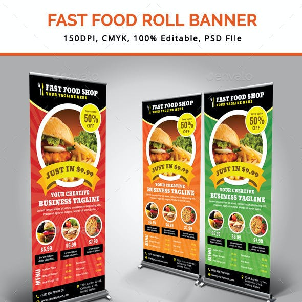 Fast Food Roll Up Banner