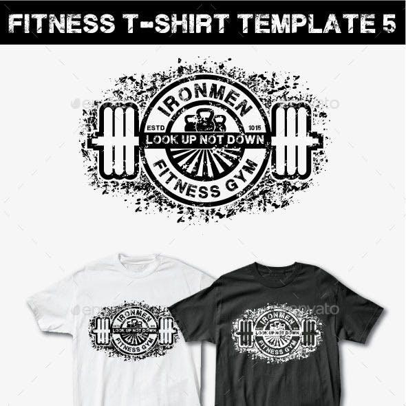 Fitness T-Shirt Template 5