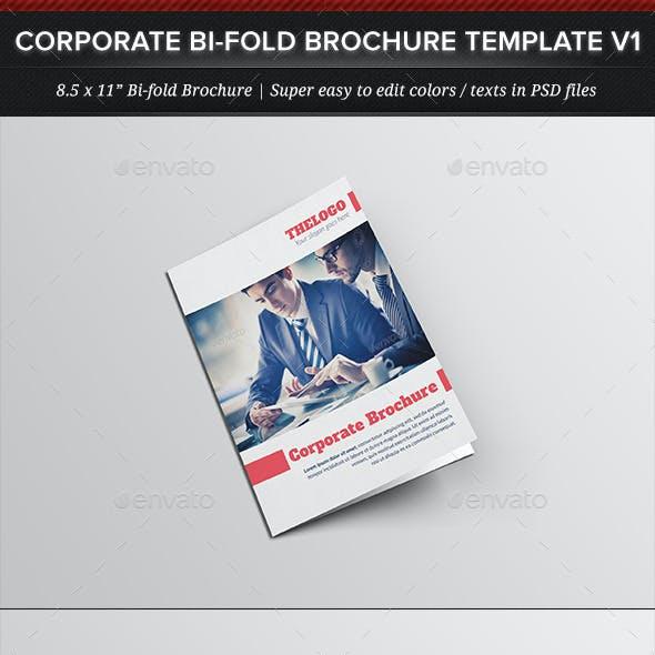 Corporate Business Bi-fold Brochure Template V1
