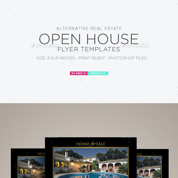 Real Estate Open House Flyer Templates
