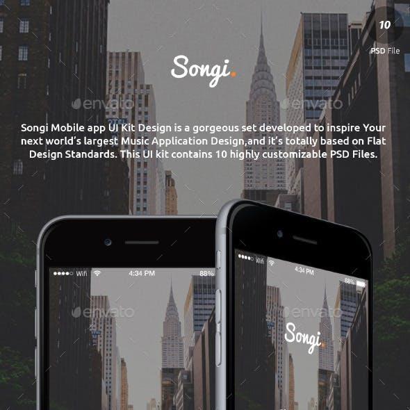 Songi Full Music Network App UI Design Kit