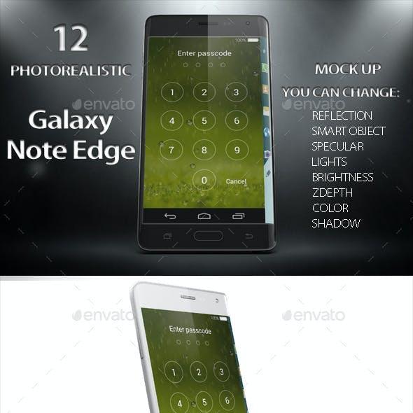 Galaxy Note Edge Smartphone Mock Up Vol.2