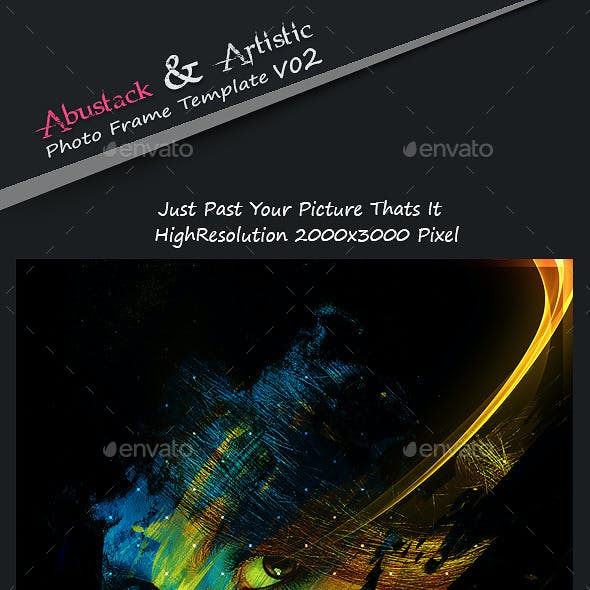 Abstrakt & Artistic Photo Frame Template v02
