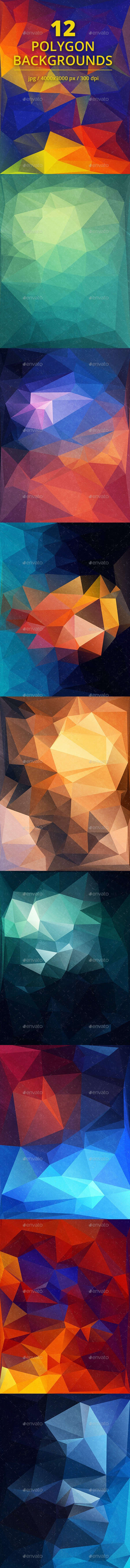 Polygon Backgrounds Vol.7 - Abstract Backgrounds