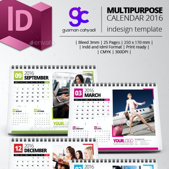 Multipurpose 2016 Desk Calendar