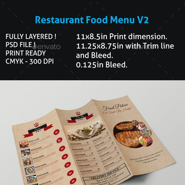 Restaurant Food Menu V2
