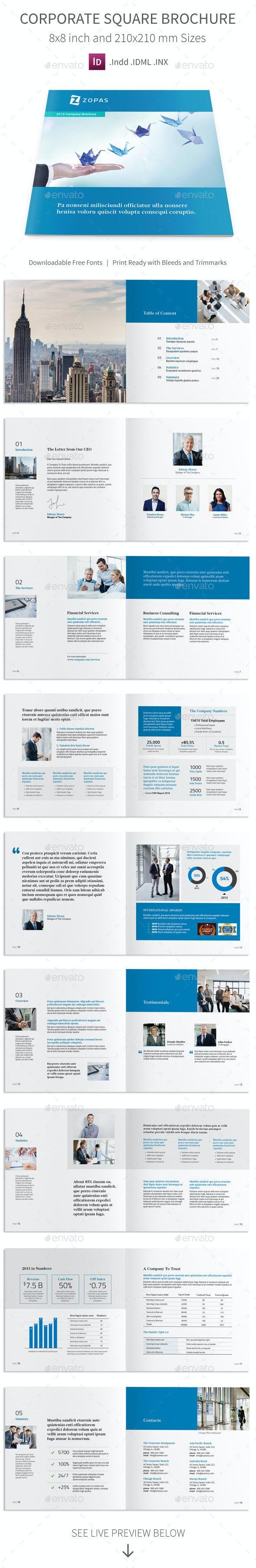 Corporate Company Square Brochure - Corporate Brochures