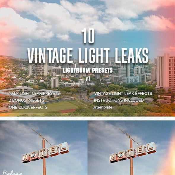 10 Vintage Light Leaks vol.1 - Lightroom Presets