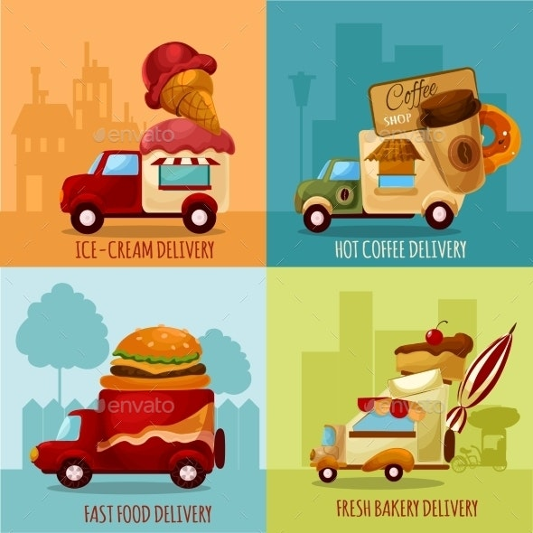 Mobile Food Delivery - Food Objects