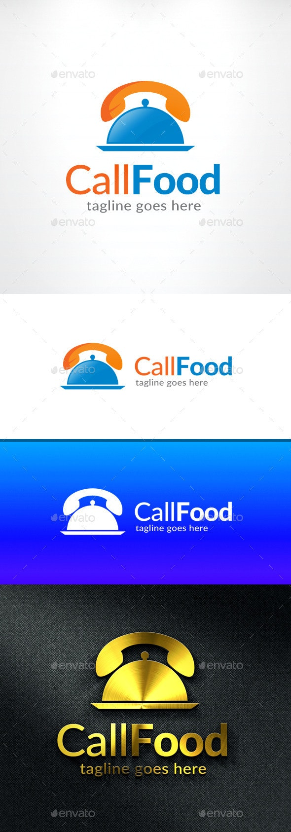 Call Food Logo - Food Delivery - Symbols Logo Templates