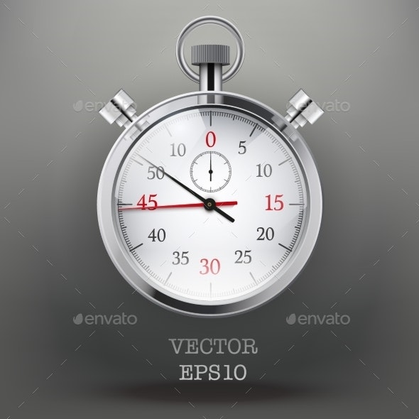 Background With Analog Stopwatch. - Computers Technology
