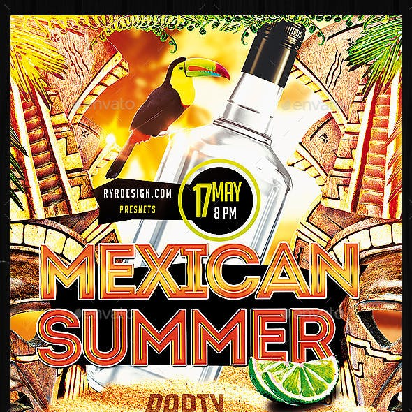 Summer Mexican Party PSD Flyer