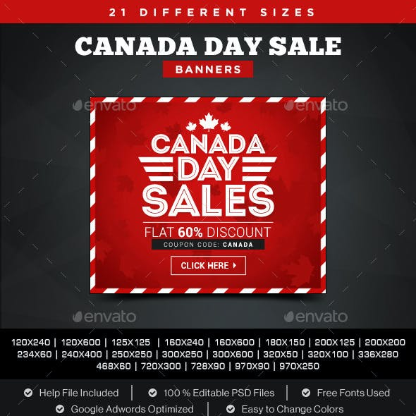 Canada Day Sale Banners
