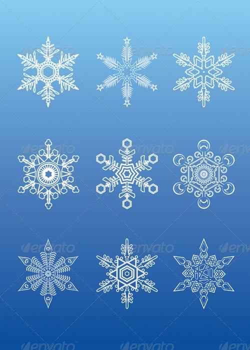 Snowflakes - Decorative Symbols Decorative