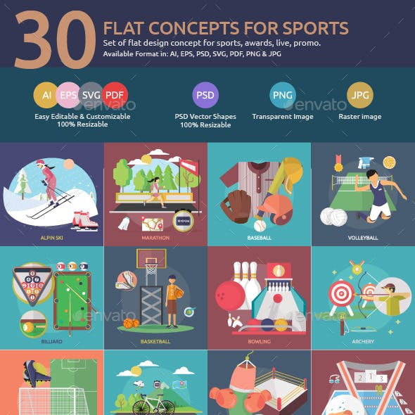 Flat Concepts for Sports & Awards