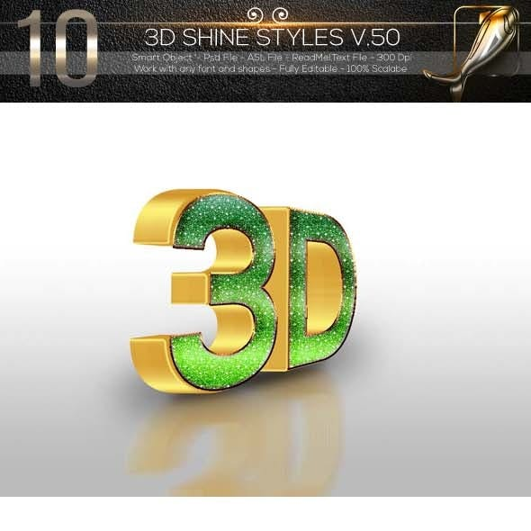 10 3D Text Style V.50