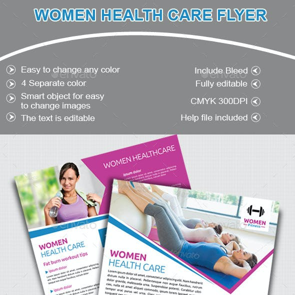 Women Health Care Club Flyer