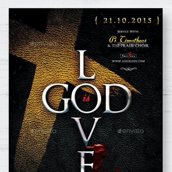 God Is Love Flyer Template