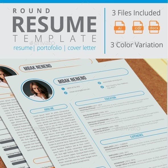 Round Resume Template