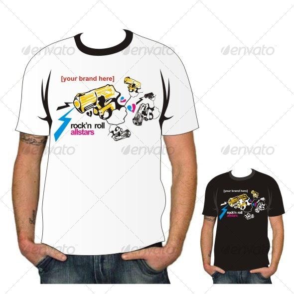 Rock n Roll Tees vector - Decorative Symbols Decorative