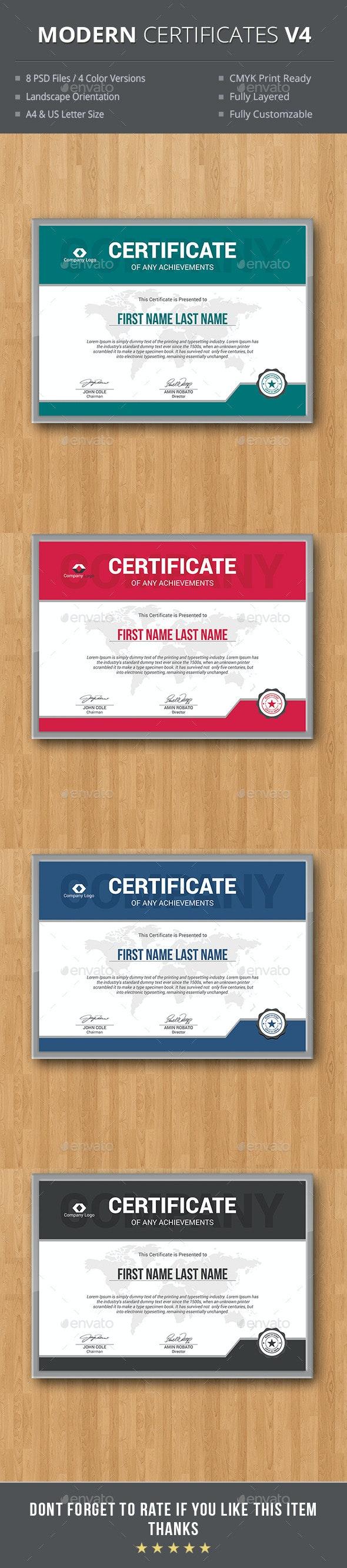 Modern Certificates - Certificates Stationery