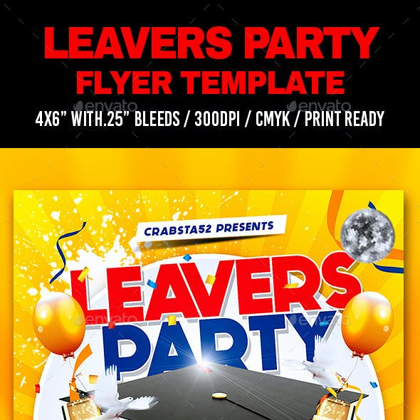 Leavers Party Flyer Template