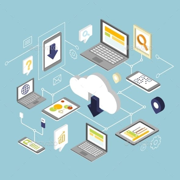 Mobile Smartphone Services Cloud Concept