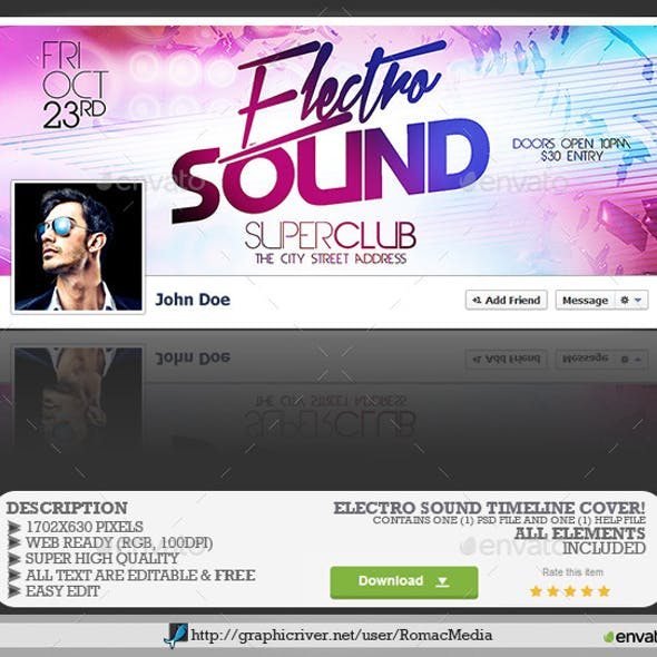 Electro Sound Facebook Timeline Cover