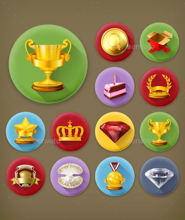 Awards and Achievement Icons - Miscellaneous Vectors