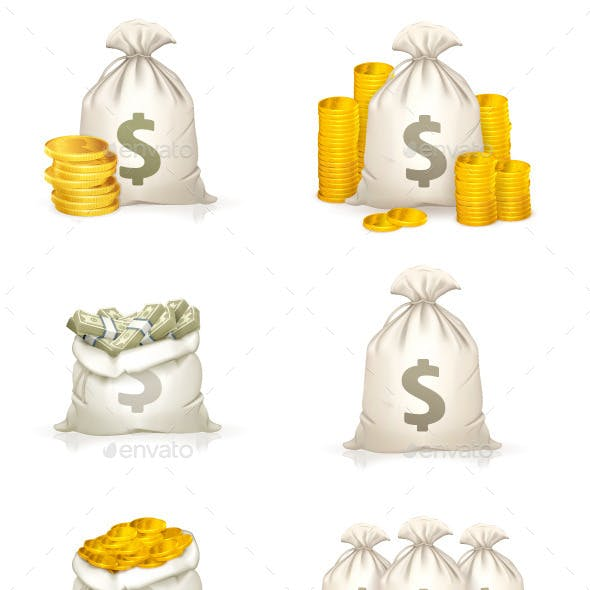 Bags of Money Icons