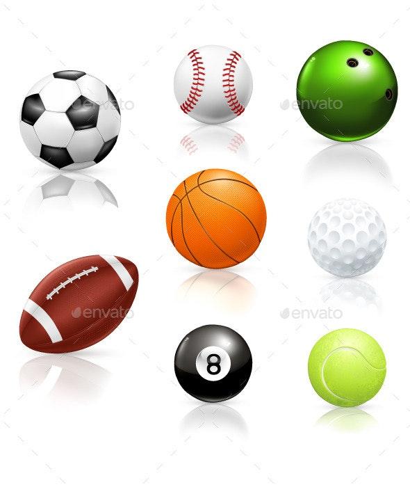 Sport Balls Icons - Sports/Activity Conceptual