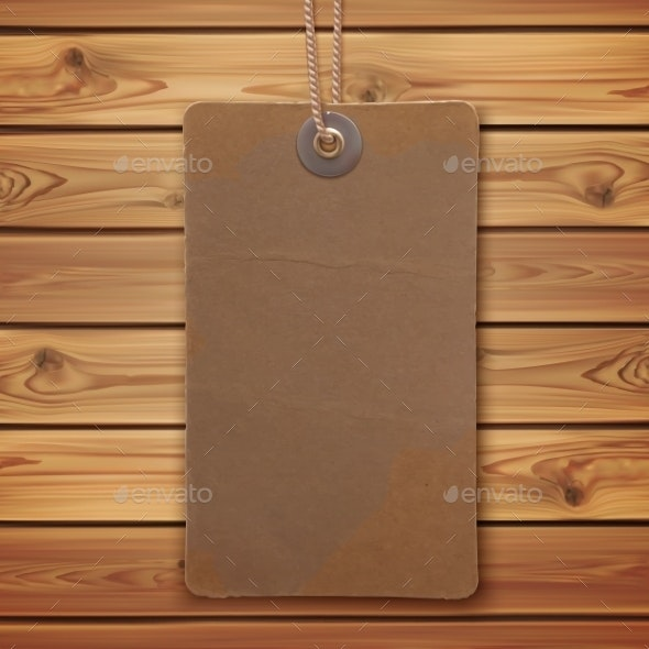Vintage Label on Wooden Planks - Backgrounds Decorative