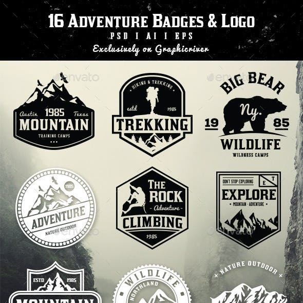 16 Adventure Badges & Logo