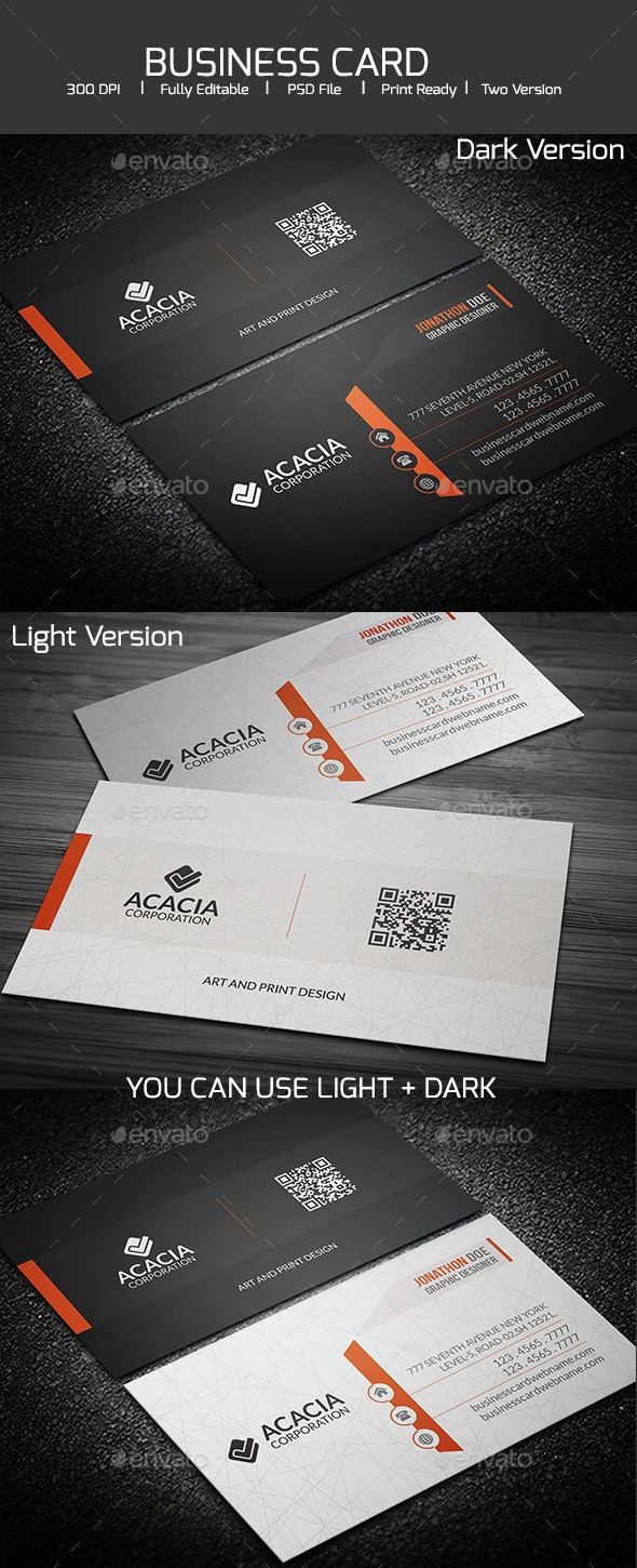SIMPLE AND ELEGANT BUSINESS CARD - Corporate Business Cards