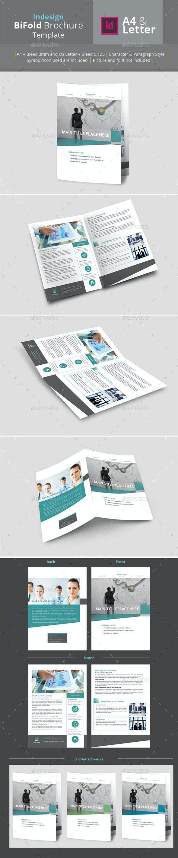 Bifold Brochure A4 & Letter Size - Brochures Print Templates