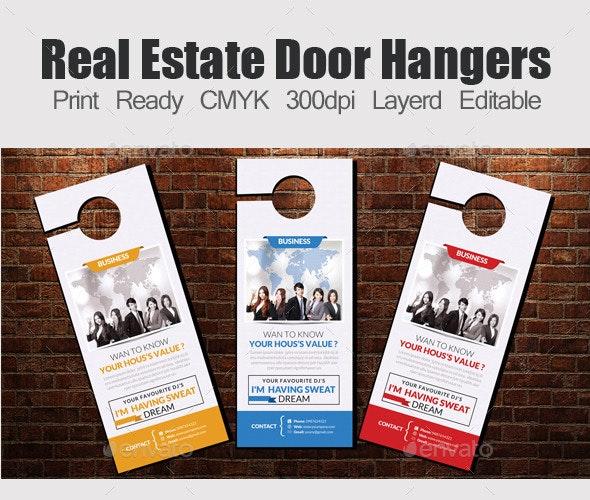Corporate Door Hangers Template - Miscellaneous Print Templates