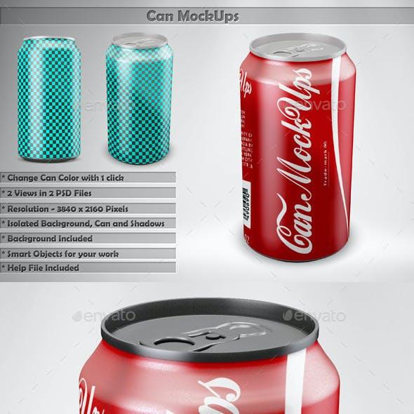 Can Soda Mockups