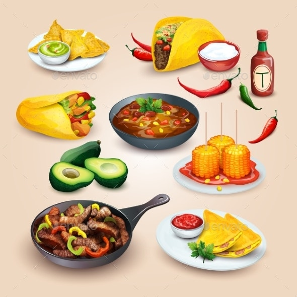 Mexican Food - Food Objects