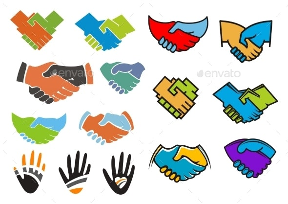Colorful Partnership And Friendship Symbols - Business Conceptual