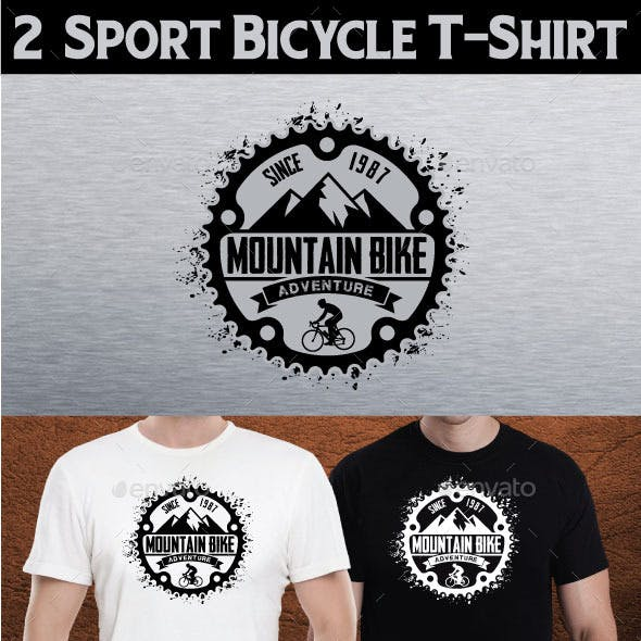 2  Sport Bicycle T-Shirt