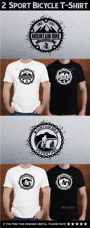 2  Sport Bicycle T-Shirt - Grunge Designs