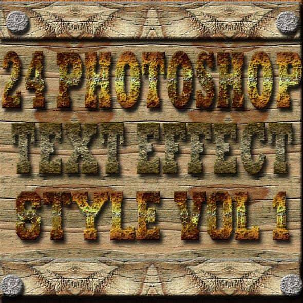 24 Photoshop Text Effect Style Vol 1