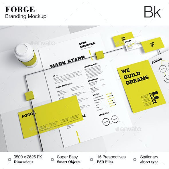 Stationery Mockup - Forge