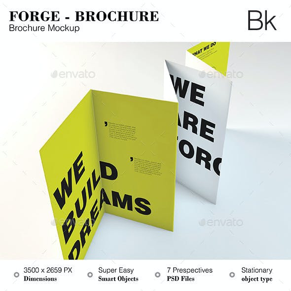 Brochure Mockup - Forge
