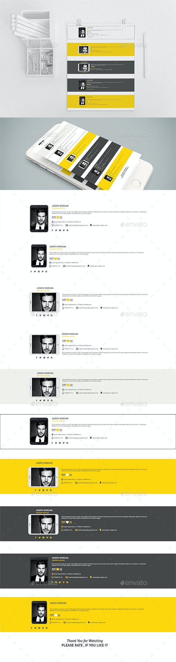 10 E-Signature PSD Templates - Miscellaneous Social Media